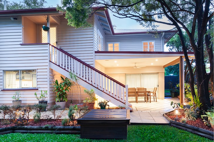 Restoration of weatherboard house